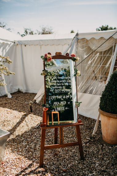 DIY Chalkboard decor | Northamptonshire wedding at Plum Park Hotel | Wtoo by Watters from Serendipity Brides | Spindleberry Flowers | Photography by Ania Ames