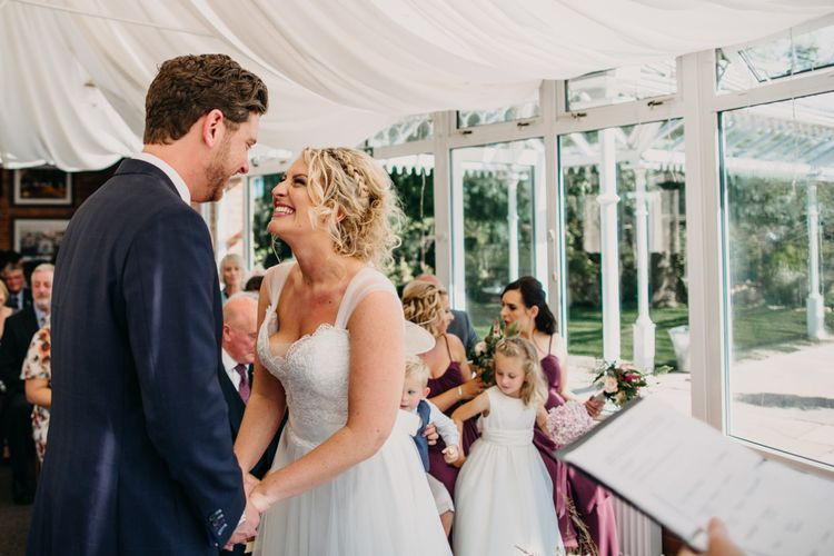 The Ceremony | Northamptonshire wedding at Plum Park Hotel | Wtoo by Watters from Serendipity Brides | Spindleberry Flowers | Photography by Ania Ames