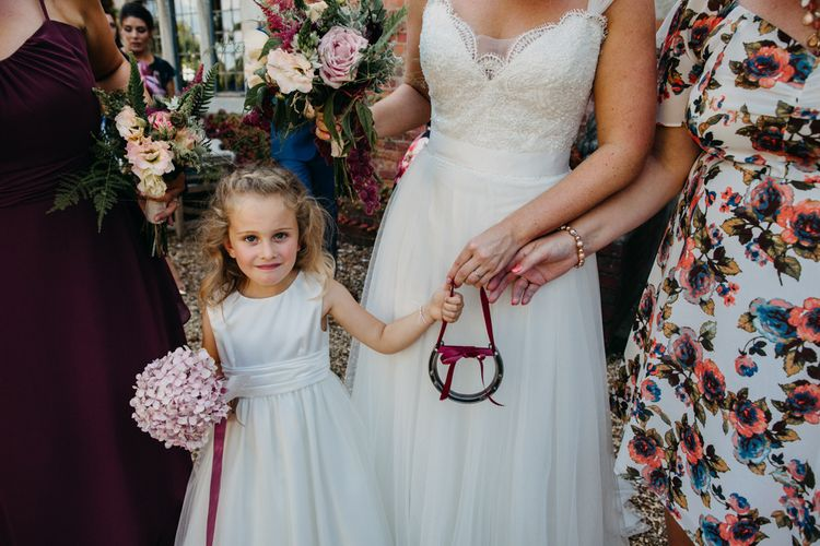 Flower girl | Northamptonshire wedding at Plum Park Hotel | Wtoo by Watters from Serendipity Brides | Spindleberry Flowers | Photography by Ania Ames