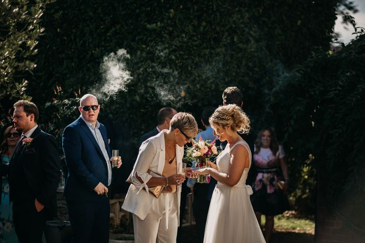 Guests | Northamptonshire wedding at Plum Park Hotel | Wtoo by Watters from Serendipity Brides | Spindleberry Flowers | Photography by Ania Ames