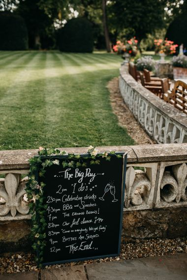 DIY Signage | Northamptonshire wedding at Plum Park Hotel | Wtoo by Watters from Serendipity Brides | Spindleberry Flowers | Photography by Ania Ames