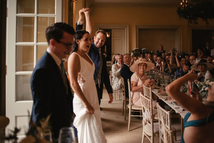 The Lost Orangery Wedding Venue With Bride In Aston Dress By Rime Arodaky With Groom In Reiss And Images From McGivern Photography