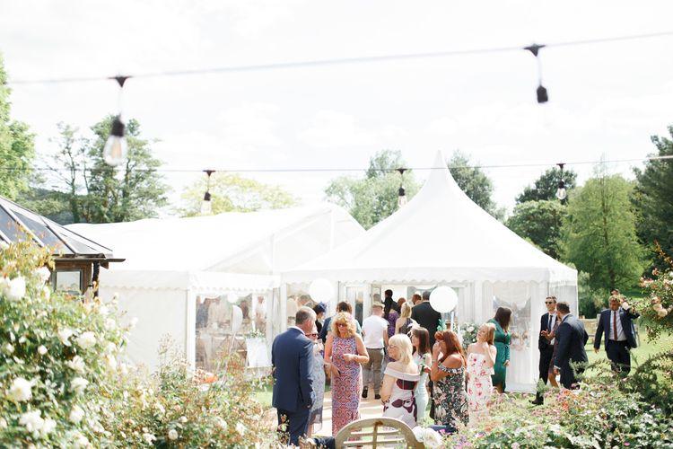 Marquee reception at Coddington Vineyard