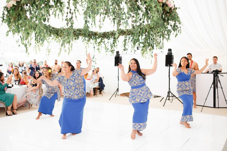 Traditional Samoan Dance to welcome the bride into the family