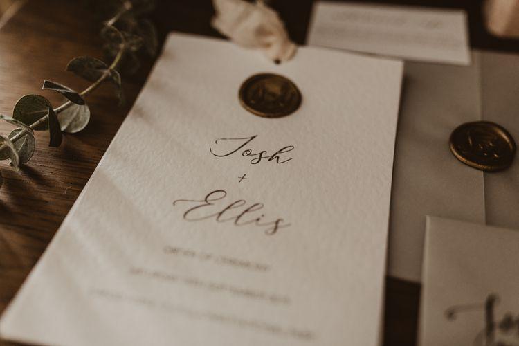 Wedding stationery and invitations for Hafod Farm wedding in Wales