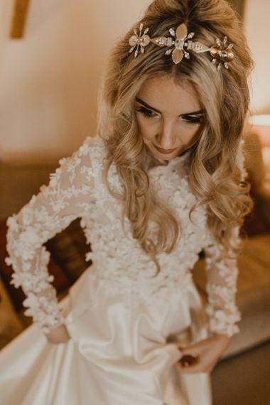Bridal preparations for Hafod Farm wedding