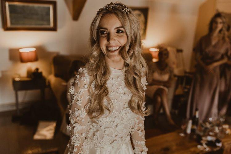 Bridal preparations at Hafod Farm wedding