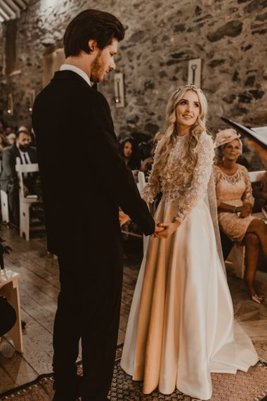 Emma Beaumont wedding dress at Hafod Farm wedding