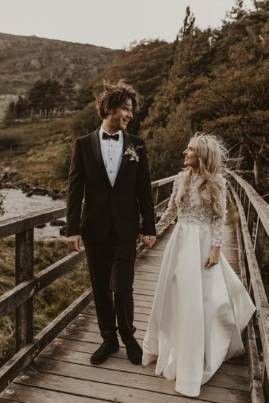Bride and groom at Welsh wedding