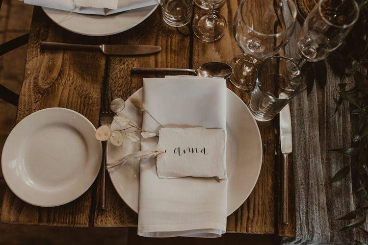 在Hafod农场婚礼的婚礼餐厅