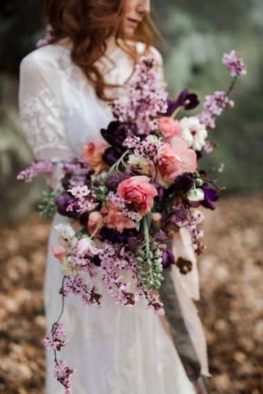 Stunning Pink, Purple and Lilac Wedding Bouquet