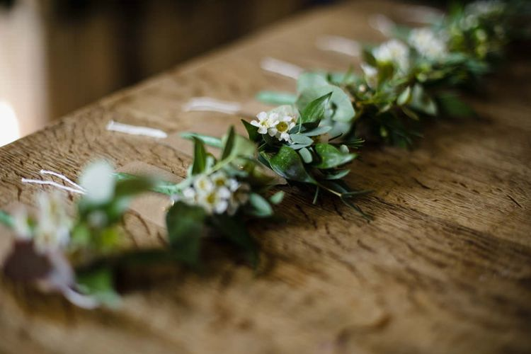 Buttonholes |  Ivania Pronovias Wedding Dress with Long Sleeves and Minimalist Styling | Chris Barber Photography