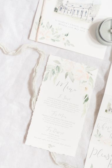 Beautiful Delicate Wedding Stationery