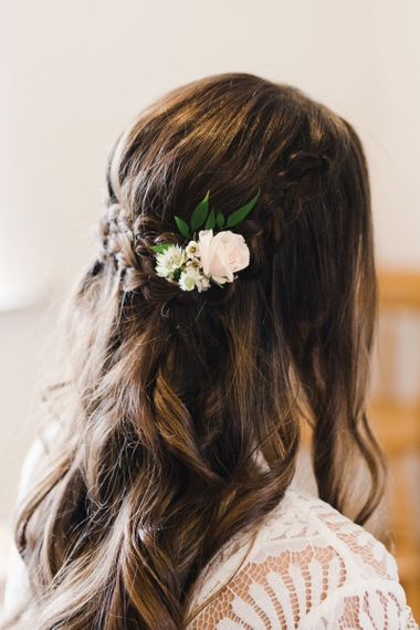 Bridesmaid Hair with Flower Accessory