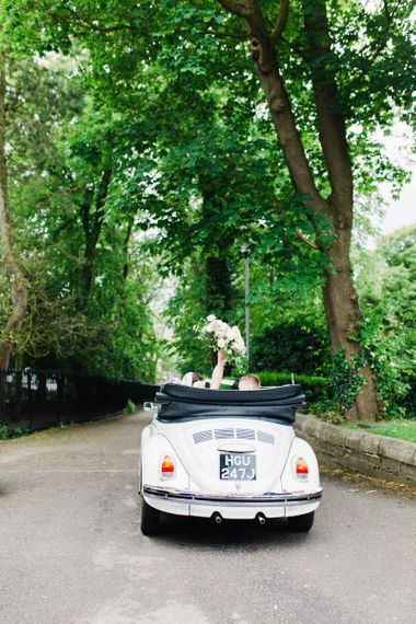 Bride and Groom being Transported to reception