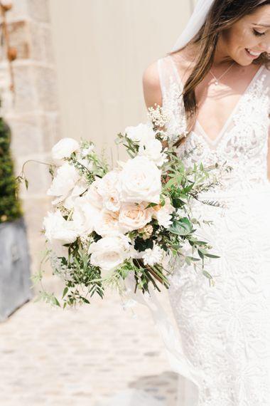 Bride Bouquet in Peach and White