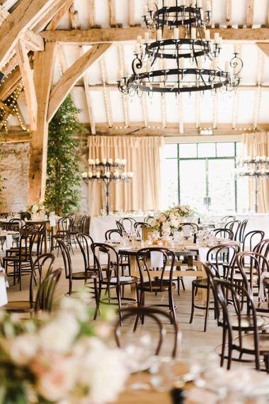 Tithe Barn Wedding Venue Set Up