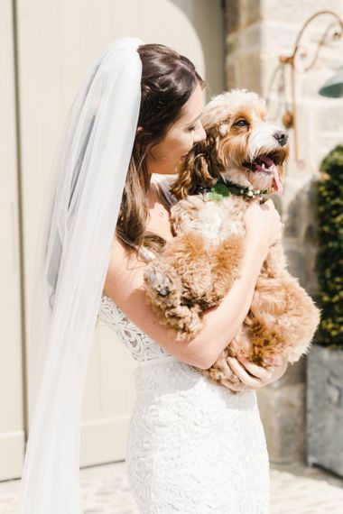 Beautiful Portrait of Bride and Dog
