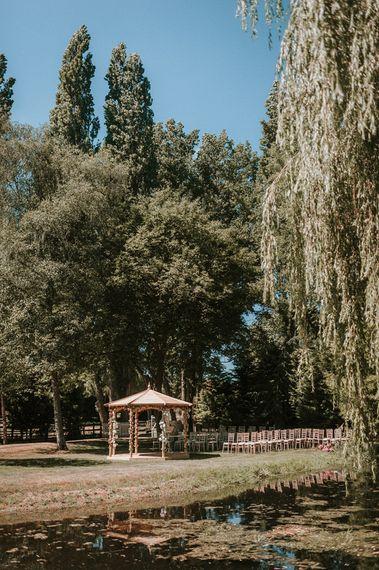 Pergola Wedding Ceremony Altar