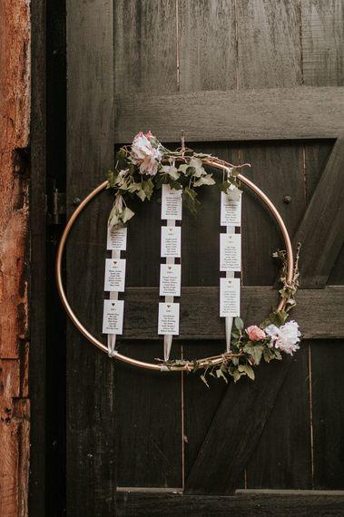 DIY Hoop Table Plan Wedding Decor