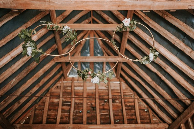 DIY Hanging Hoop Wedding Decor with Foliage