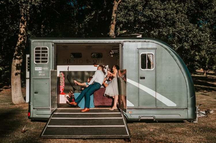 DIY Horse Box Photo Booth with Sofas and Props