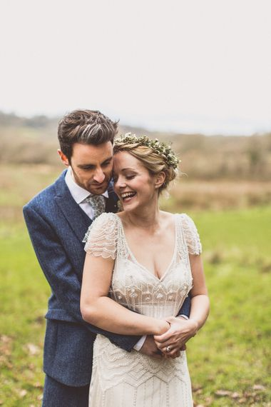 Rustic Luxe Winter Wedding At Fforest Wales With Bride In Maggie Sottero  And Wellies With Images And Film From WE ARE // THE CLARKES