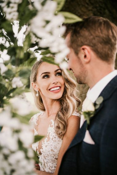 Beautiful Bride with Natural Makeup and Finger Wave Hair