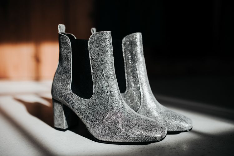 Silver Bridal Boots