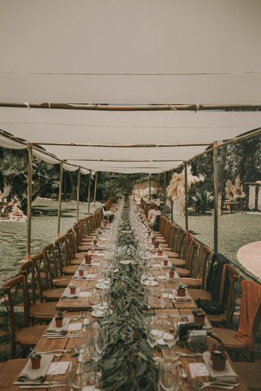 Canopy For Outdoor Wedding Reception // Wes Anderson Inspired Destination Wedding Planned & Styled By Paloma Cruz Events With Images From Pablo Laguia & Film By David Rodriquez