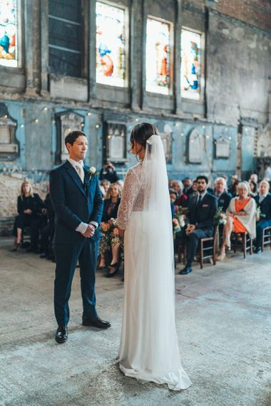 Wedding Ceremony at The Asylum with Dusky Pink Bridesmaid Dresses