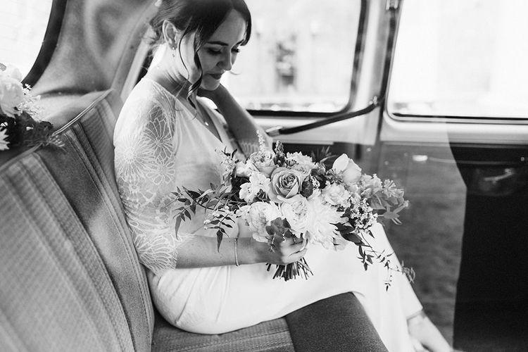 Charlie Brear Wedding Dress with Bridal Bouquet