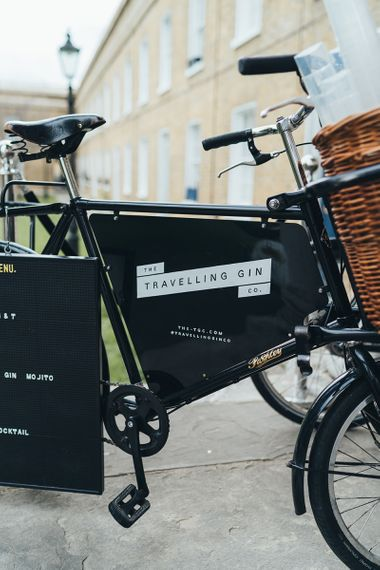 Gin bike by The Travelling Gin Co