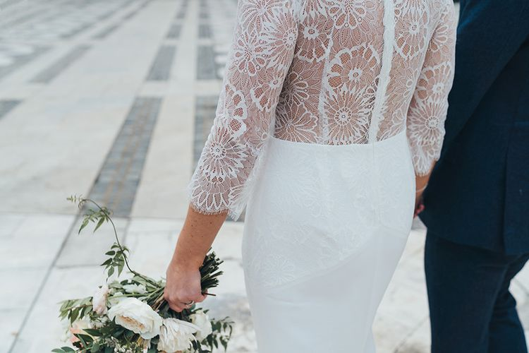 Charlie Brear Wedding Dress with Lace Back Detail