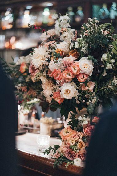 Dusky Pink and Peach Wedding Flowers