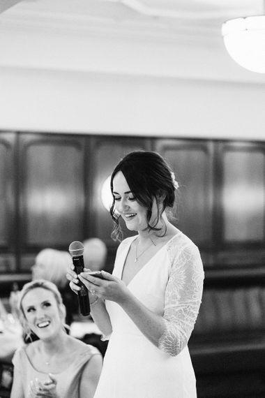 Bride Wedding Speech at Reception