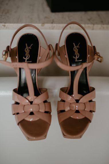 YSL Platform Bridal Shoes