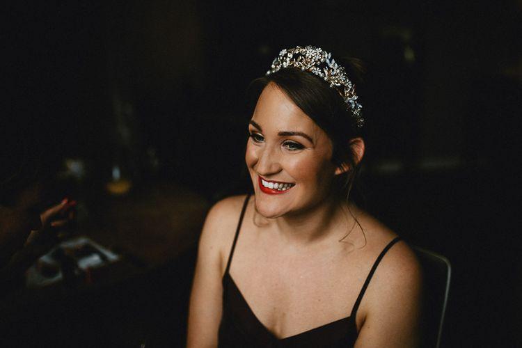 Bridal Makeup and Jewel Crown