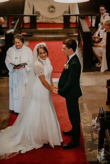 Bride and Groom Exchanging Their Wedding Vows