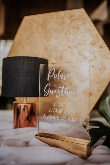 Acrylic wedding signs for guestbook