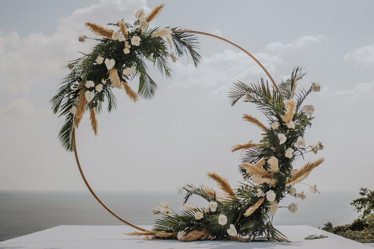 Beautiful moon gate for destination Thailand wedding