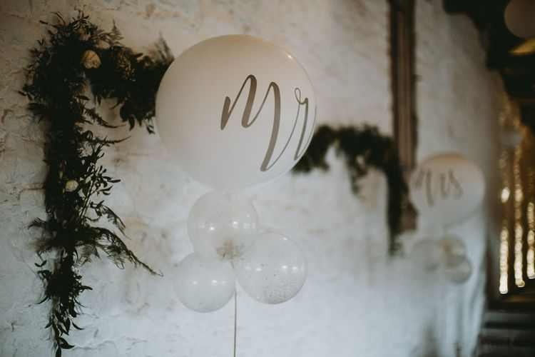 Mr & Mrs Balloon Wedding Decor