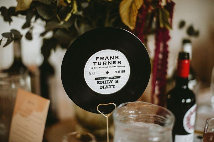 Vinyl Table Name Decor