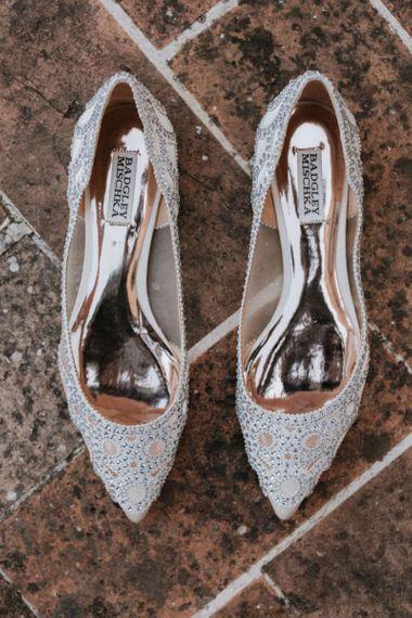 Embellished wedding shoes for bride