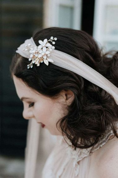 Bride with veil and hair accessories