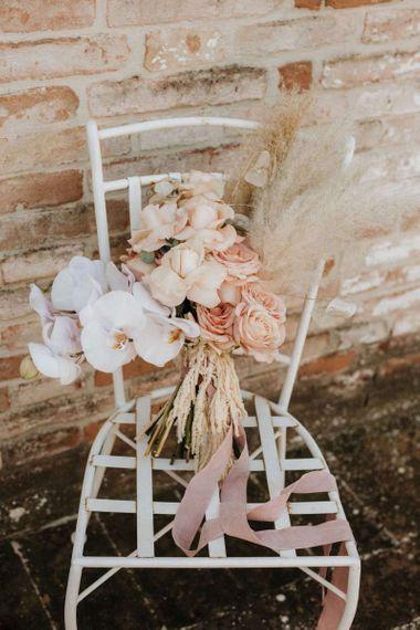 Blush orchid bouquet