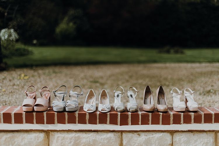 Bridal Party Shoes | Homemade, Homegrown Village Marquee Wedding with Greenery | Rustic DIY Decor | Claire Fleck Photography | Second Shooter Oscar Davies Photography
