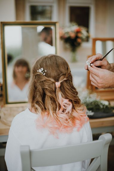 Twisted Bridal Up Do | Homemade, Homegrown Village Marquee Wedding with Greenery | Rustic DIY Decor | Claire Fleck Photography | Second Shooter Oscar Davies Photography