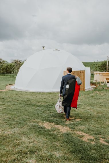 Glamping | Homemade, Homegrown Village Marquee Wedding with Greenery | Rustic DIY Decor | Claire Fleck Photography | Second Shooter Oscar Davies Photography