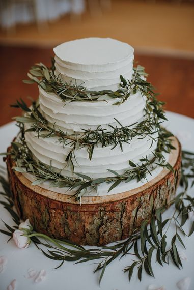 Rustic Wedding Cake | Homemade, Homegrown Village Marquee Wedding with Greenery | Rustic DIY Decor | Claire Fleck Photography | Second Shooter Oscar Davies Photography